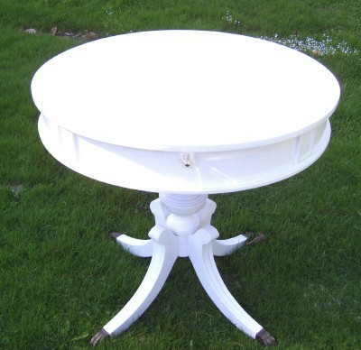 White Painted Tea Table
