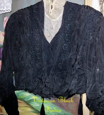 Victorian Black Bodice